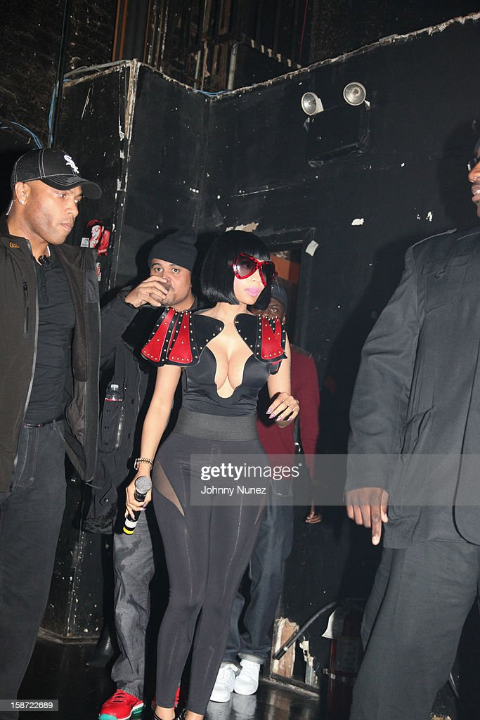 Nicki Minaj attends her Christmas Extravaganza at Webster Hall on December 25, 2012 in New York City.