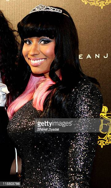 Nicki Minaj attends Justin Dior Comb's 16th birthday party at M2 Ultra Lounge on January 23 2010 in New York City