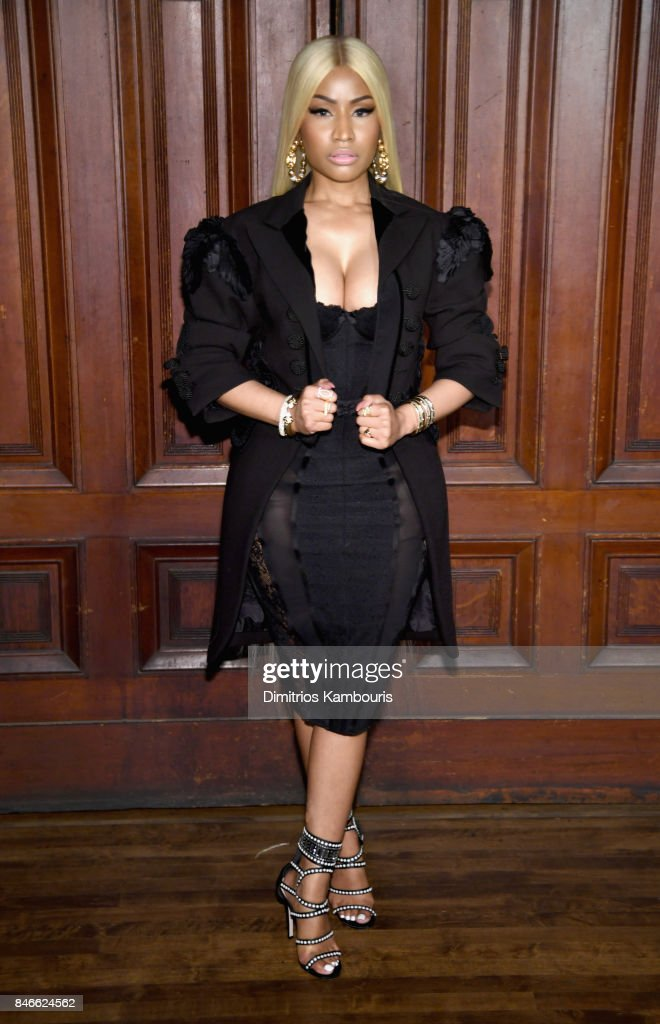 Nicki Minaj attends Marc Jacobs SS18 fashion show during New York Fashion Week at Park Avenue Armory on September 13, 2017 in New York City.