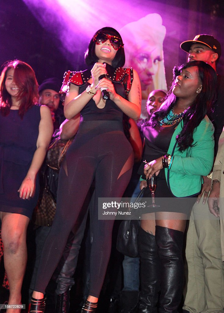 Nicki Minaj (C) attends Nicki Minaj's Christmas Extravaganza at Webster Hall on December 25, 2012 in New York City.