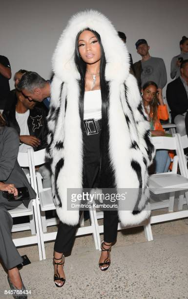 Nicki Minaj attends Oscar De La Renta fashion show during New York Fashion Week on September 11 2017 in New York City