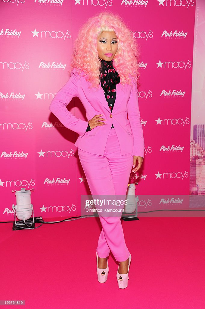 Nicki Minaj attends Pink Friday Fragrance Launch at Macy's Queens Center Mall on November 20 2012 in the Queens borough of New York City