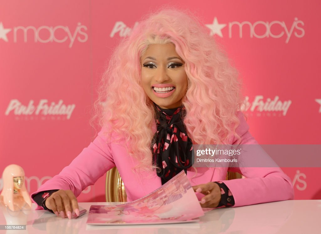 Nicki Minaj attends Pink Friday Fragrance Launch at Macy's Queens Center Mall on November 20, 2012 in the Queens borough of New York City.