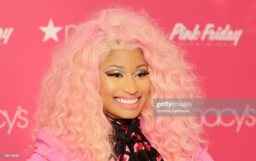 Nicki Minaj attends Pink Friday Fragrance Launch at Macy's Queens Center Mall on November 20, 2012 in New York City.