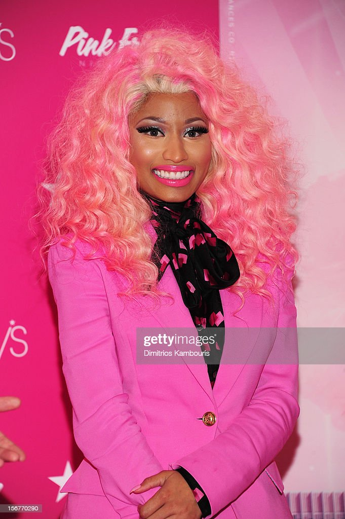 <a gi-track='captionPersonalityLinkClicked' href=/galleries/search?phrase=Nicki+Minaj+-+Artieste&family=editorial&specificpeople=6362705 ng-click='$event.stopPropagation()'>Nicki Minaj</a> attends Pink Friday Fragrance Launch at Macy's Queens Center Mall on November 20, 2012 in New York City.