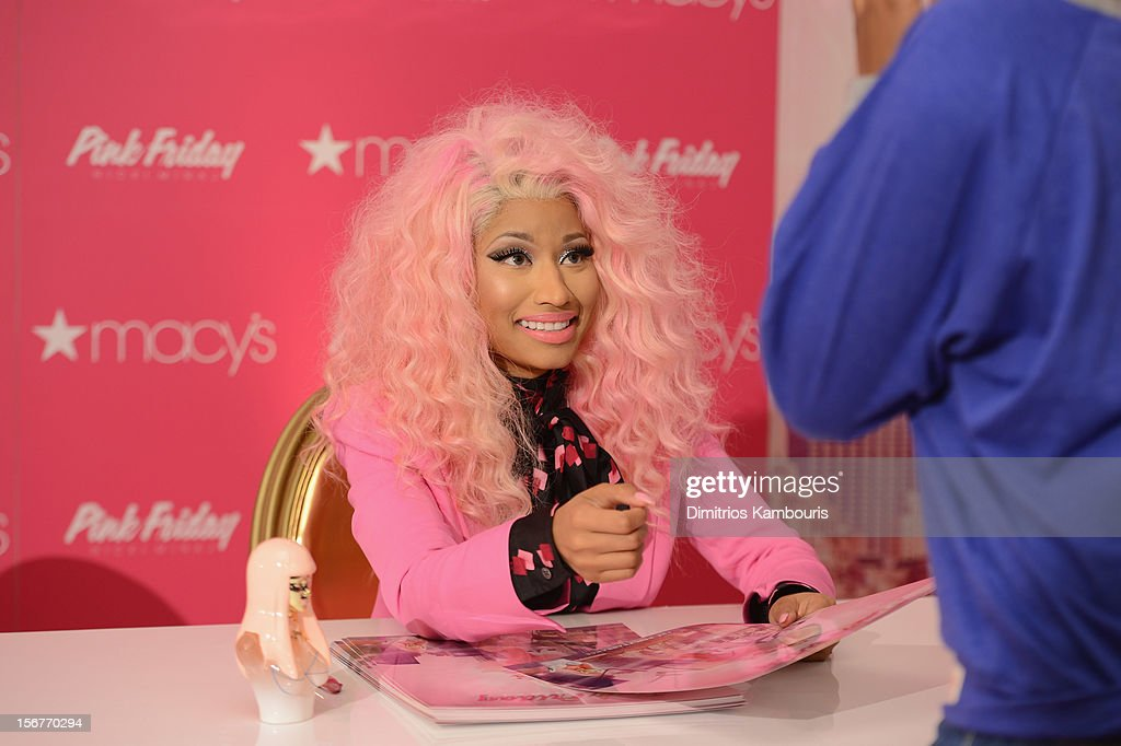 <a gi-track='captionPersonalityLinkClicked' href=/galleries/search?phrase=Nicki+Minaj+-+Artista&family=editorial&specificpeople=6362705 ng-click='$event.stopPropagation()'>Nicki Minaj</a> attends Pink Friday Fragrance Launch at Macy's Queens Center Mall on November 20, 2012 in New York City.