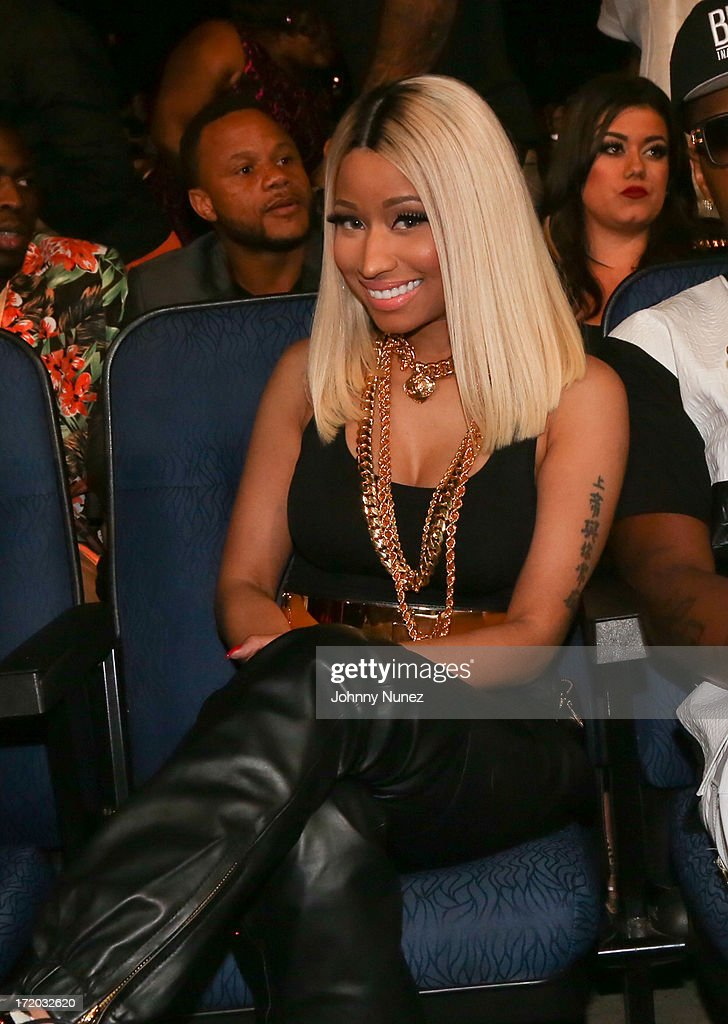 <a gi-track='captionPersonalityLinkClicked' href=/galleries/search?phrase=Nicki+Minaj+-+Performer&family=editorial&specificpeople=6362705 ng-click='$event.stopPropagation()'>Nicki Minaj</a> attends the 2013 BET Awards at Nokia Plaza L.A. LIVE on June 30, 2013 in Los Angeles, California.
