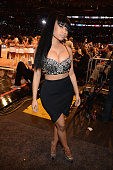 Nicki Minaj attends The 64th NBA AllStar Game 2015 on February 15 2015 in New York City