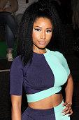 Nicki Minaj attends the Alexander Wang fashion show during MercedesBenz Fashion Week Spring 2015 at Pier 94 on September 6 2014 in New York City
