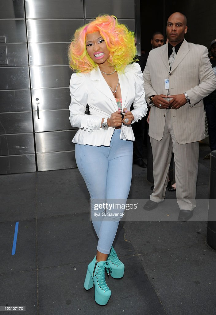 <a gi-track='captionPersonalityLinkClicked' href=/galleries/search?phrase=Nicki+Minaj+-+Performer&family=editorial&specificpeople=6362705 ng-click='$event.stopPropagation()'>Nicki Minaj</a> attends the 'American Idol' Judges And Host Photo Call at Jazz at Lincoln Center on September 16, 2012 in New York City.