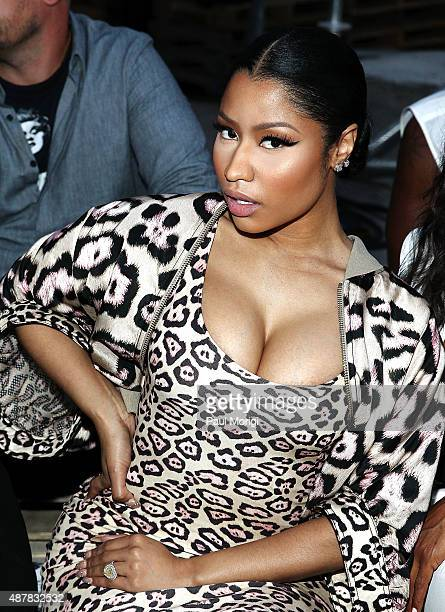 Nicki Minaj attends the Givenchy fashion show during Spring 2016 New York Fashion Week on September 11 2015 in New York City