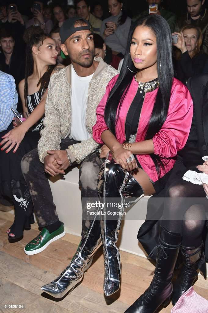 Nicki Minaj attends the H&M Studio show as part of the Paris Fashion Week on March 1, 2017 in Paris, France.