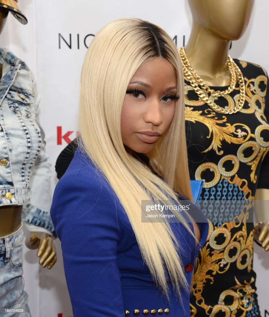 <a gi-track='captionPersonalityLinkClicked' href=/galleries/search?phrase=Nicki+Minaj+-+Performer&family=editorial&specificpeople=6362705 ng-click='$event.stopPropagation()'>Nicki Minaj</a> attends the Kmart and Shop Your Way launch of the <a gi-track='captionPersonalityLinkClicked' href=/galleries/search?phrase=Nicki+Minaj+-+Performer&family=editorial&specificpeople=6362705 ng-click='$event.stopPropagation()'>Nicki Minaj</a> Collection at KMart on October 15, 2013 in Los Angeles, California.
