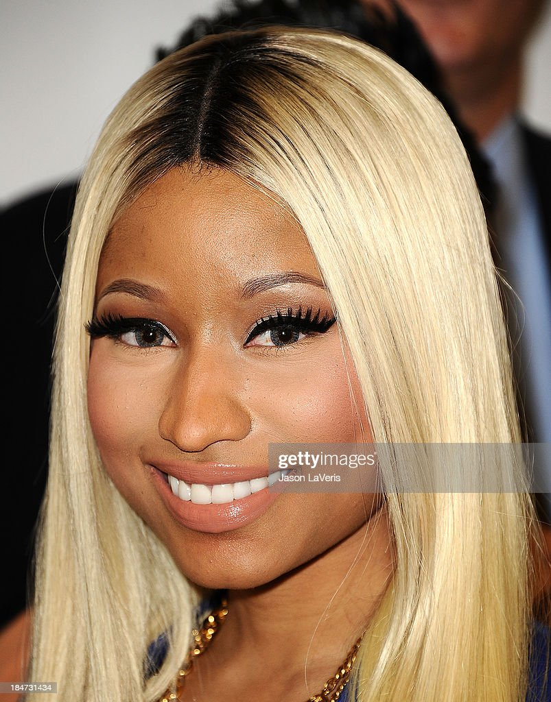 Nicki Minaj attends the launch of the Nicki Minaj Collection at KMart on October 15, 2013 in Los Angeles, California.