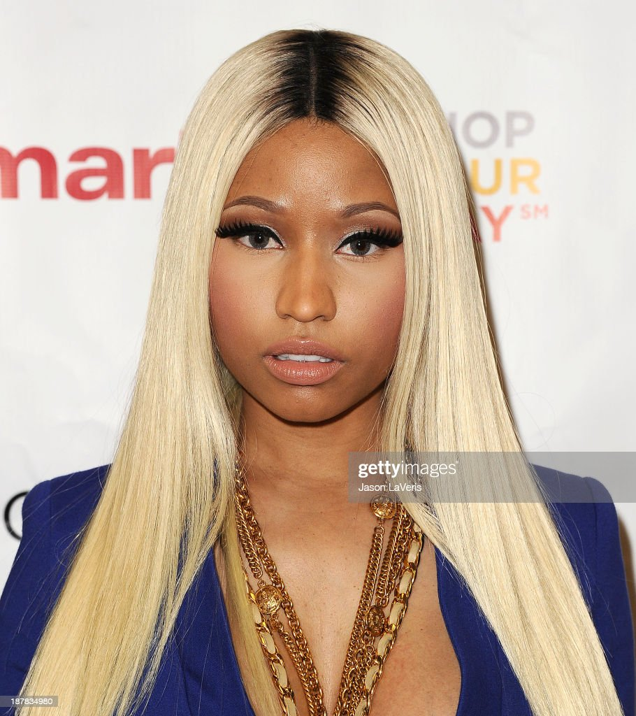 Nicki Minaj attends the launch of the Nicki Minaj Collection at KMart on October 15 2013 in Los Angeles California