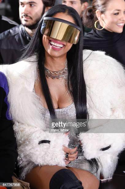 Nicki Minaj attends the Rick Owens show as part of the Paris Fashion Week Womenswear Fall/Winter 2017/2018 on March 2 2017 in Paris France