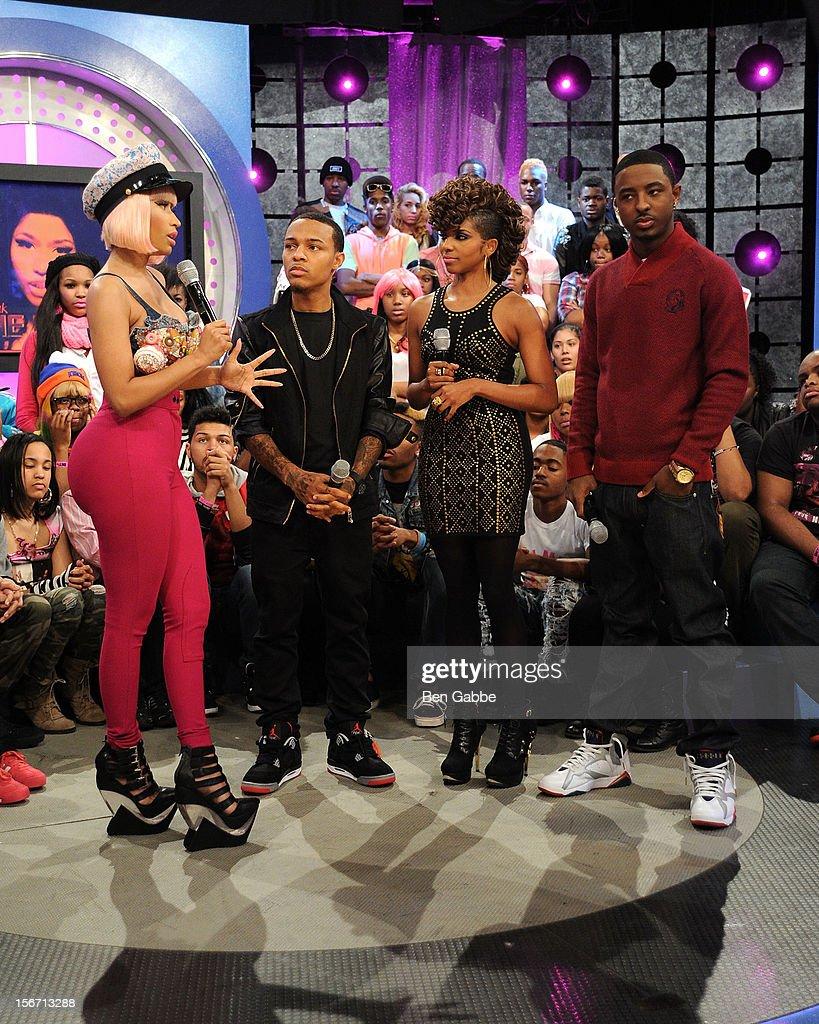 Nicki Minaj Bow Wow Miss Mykie and Shorty attend BET's 106 Park Studio on November 19 2012 in New York City