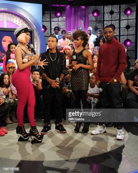Nicki Minaj Bow Wow Miss Mykie and Shorty attend BET's 106 Park Studio on November 19 2012 in New York City
