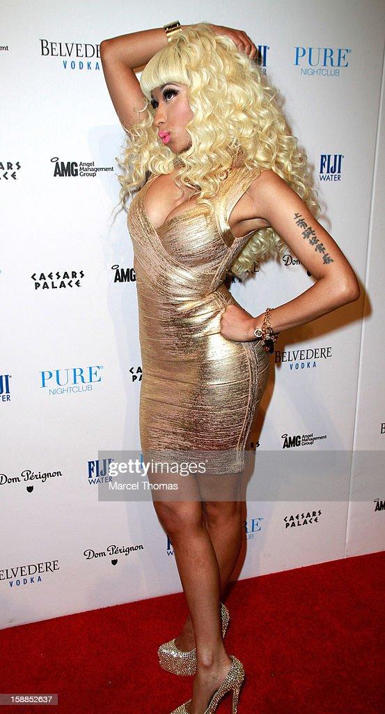 Nicki Minaj hosts New Year's Eve at the Pure Nightclub at Caesars Palace on December 31, 2012 in Las Vegas, Nevada.