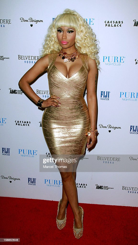 Nicki Minaj hosts New Year's Eve at the Pure Nightclub at Caesars Palace on December 31, 2012 in Las Vegas, Nevada.