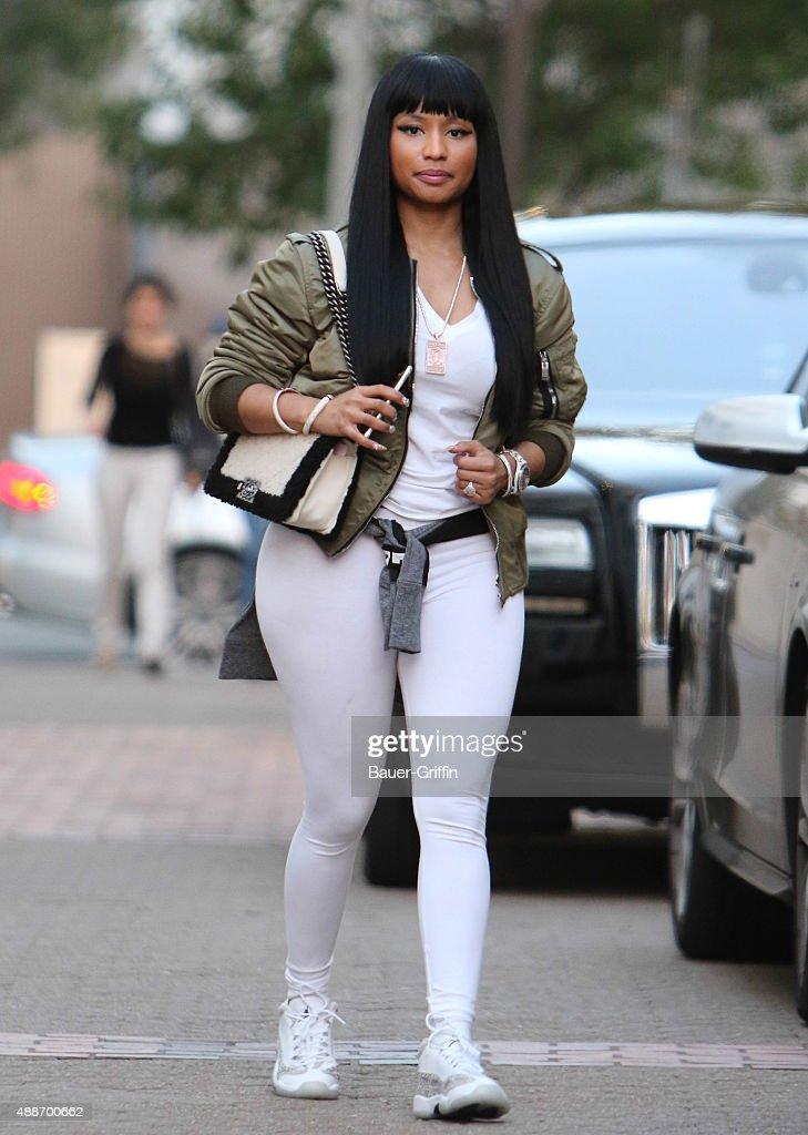 Nicki Minaj is seen on September 16 2015 in Los Angeles California