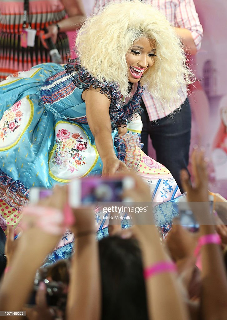 Nicki Minaj meets fans during an event to celebrate the launch of her new perfume at Myer Sydney City on November 29, 2012 in Sydney, Australia.