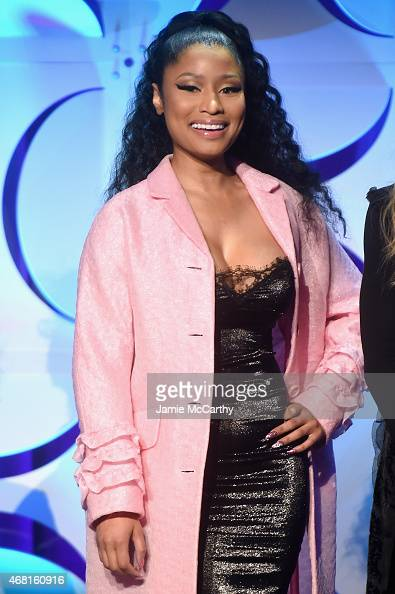 Nicki Minaj onstage at the Tidal launch event #TIDALforALL at Skylight at Moynihan Station on March 30 2015 in New York City