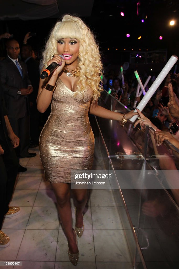 Nicki Minaj performs at New Year's Eve At PURE Nightclub on December 31, 2012 in Las Vegas, Nevada.