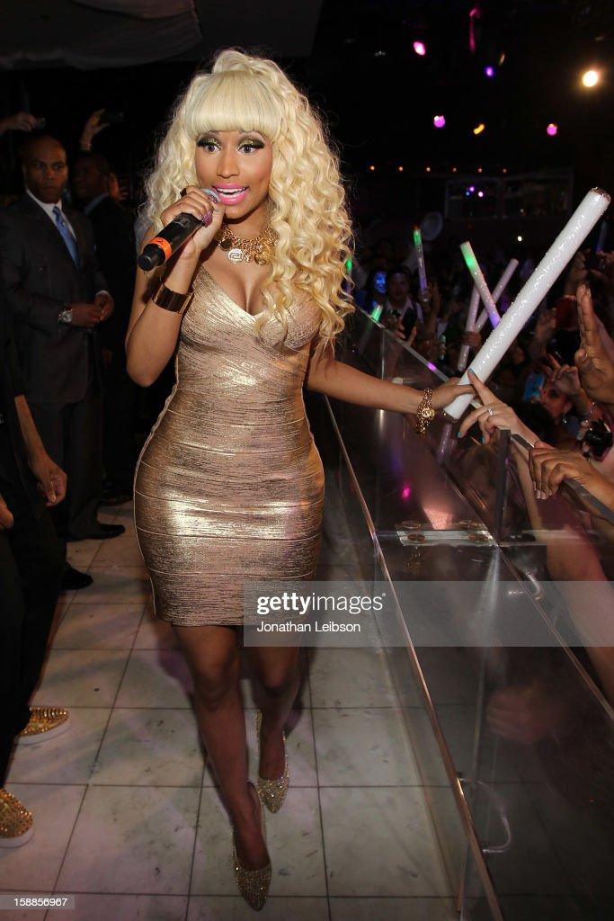 Nicki Minaj performs at New Year's Eve At PURE Nightclub on December 31, 2012 in Las Vegas, Nevada.