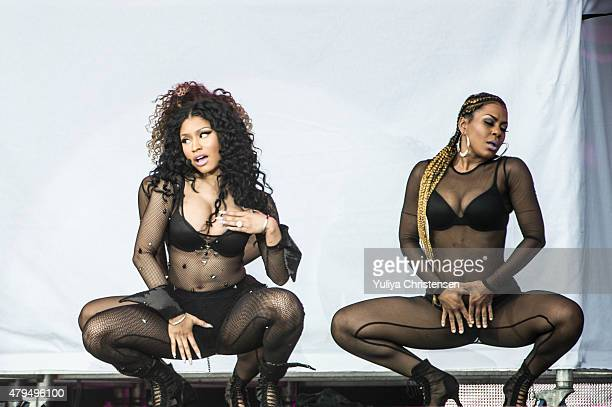 Nicki Minaj performs at Roskilde Festival on July 4 2015 in Roskilde Denmark