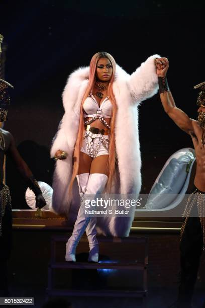 Nicki Minaj performs at the NBA Awards Show on June 26 2017 at Basketball City at Pier 36 in New York City New York NOTE TO USER User expressly...