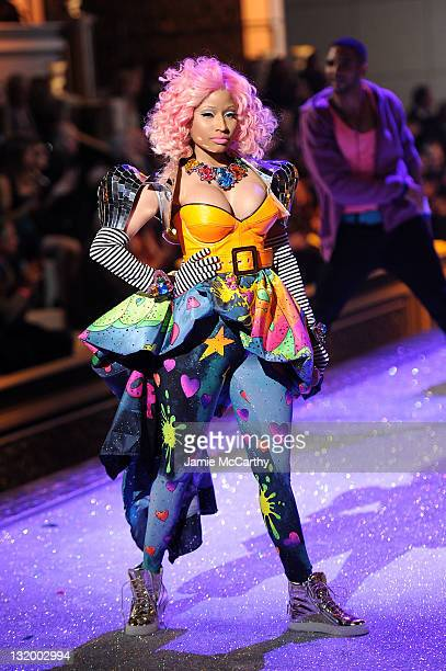 Nicki Minaj performs during the 2011 Victoria's Secret Fashion Show at the Lexington Avenue Armory on November 9 2011 in New York City