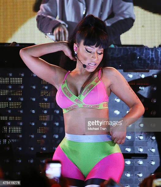 Nicki Minaj performs onstage during the iHeartRadio Summer Pool Party held at Caesars Palace on May 30 2015 in Las Vegas Nevada