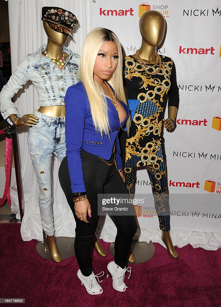 Nicki Minaj poses at the Kmart And Shop Your Way Celebrate Launch Of Nicki Minaj Collection at KMart on October 15, 2013 in Los Angeles, California.