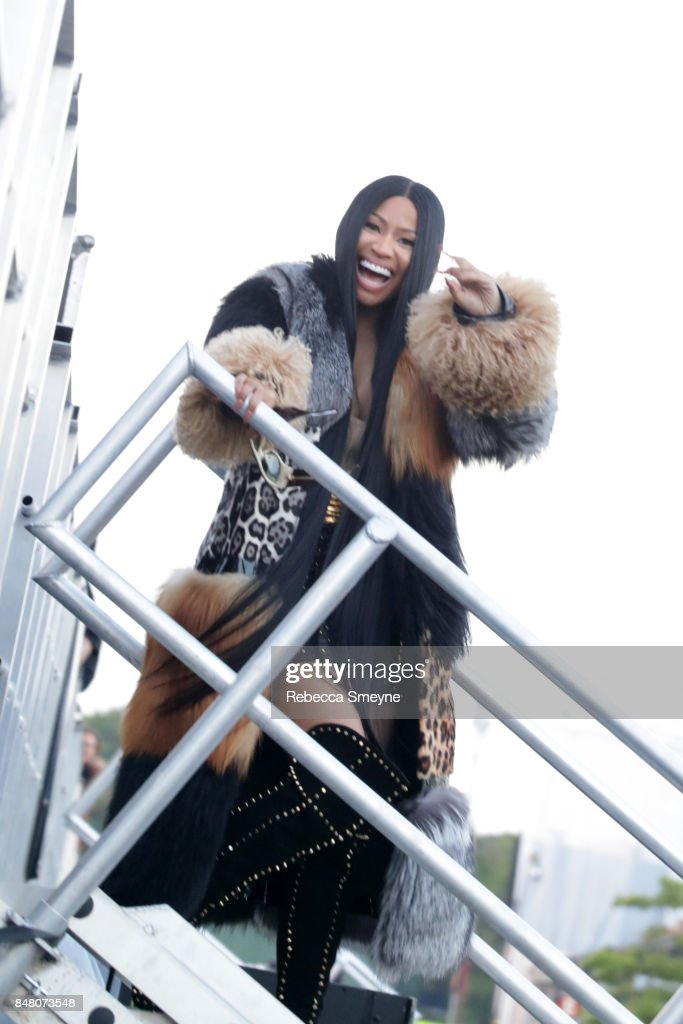 Nicki Minaj poses backstage during the Meadows Music and Arts Festival - Day 2 at Citi Field on September 16, 2017 in New York City.