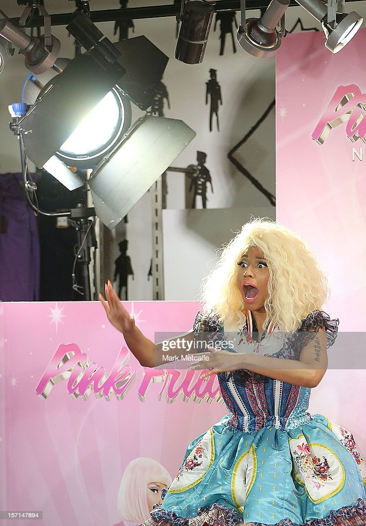 <a gi-track='captionPersonalityLinkClicked' href=/galleries/search?phrase=Nicki+Minaj+-+Performer&family=editorial&specificpeople=6362705 ng-click='$event.stopPropagation()'>Nicki Minaj</a> poses during an event to celebrate the launch of her new perfume at Myer Sydney City on November 29, 2012 in Sydney, Australia.