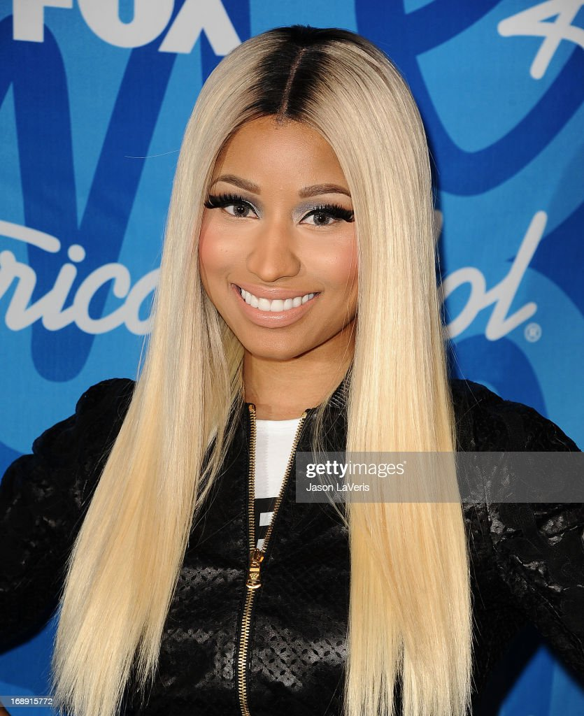 <a gi-track='captionPersonalityLinkClicked' href=/galleries/search?phrase=Nicki+Minaj+-+Artista&family=editorial&specificpeople=6362705 ng-click='$event.stopPropagation()'>Nicki Minaj</a> poses in the press room at the American Idol 2013 finale at Nokia Theatre L.A. Live on May 16, 2013 in Los Angeles, California.
