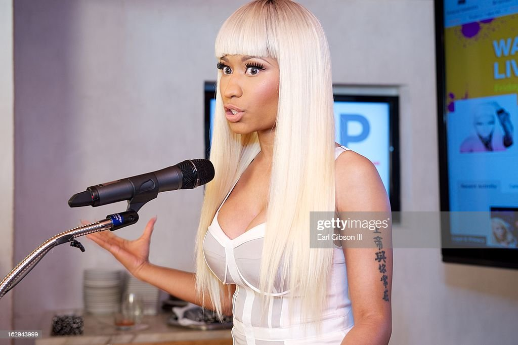 Nicki Minaj serves as host for the 'Shop Your Way' Lauch Party at Fig & Olive Melrose Place on March 1, 2013 in West Hollywood, California.