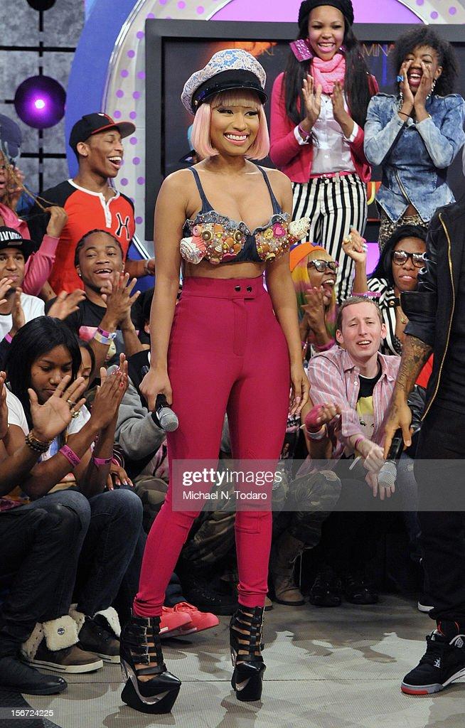 Nicki Minaj visits BET's 106 & Park at 106 & Park Studio on November 19, 2012 in New York City.