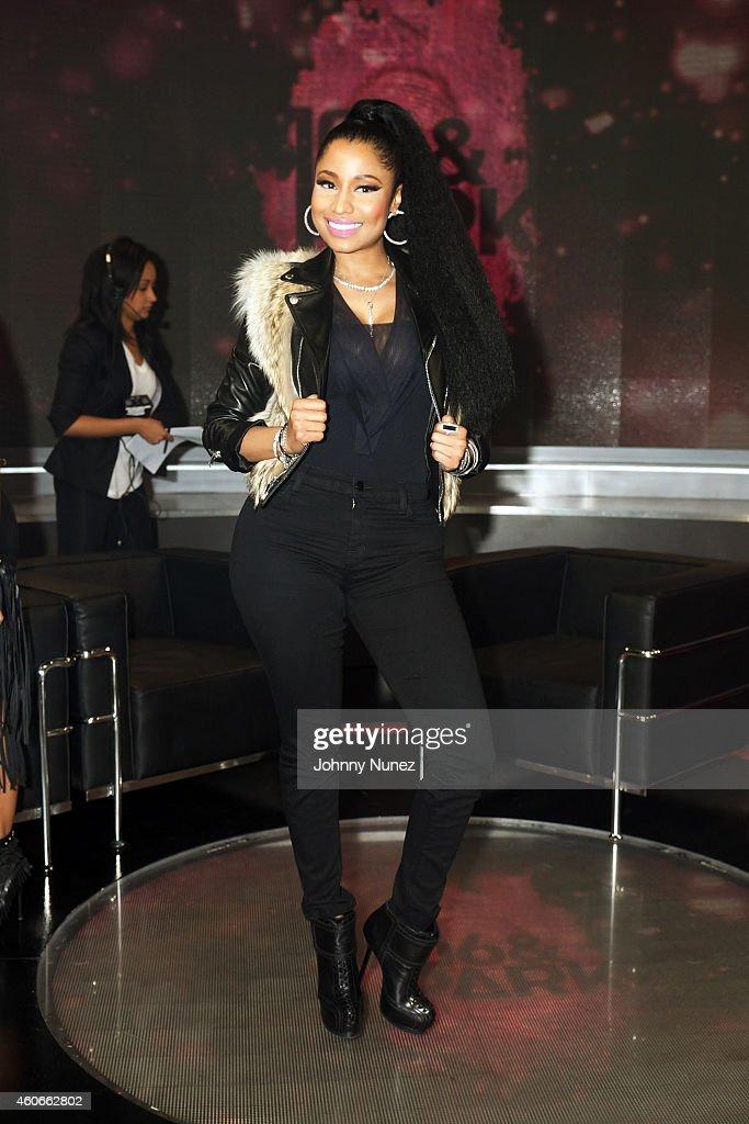 Nicki Minaj visits BET's '106 Park' at BET Studios on December 18 in New York City