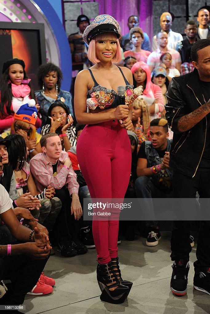 Nicki Minaj visits BET's 106 & Park Studio on November 19, 2012 in New York City.