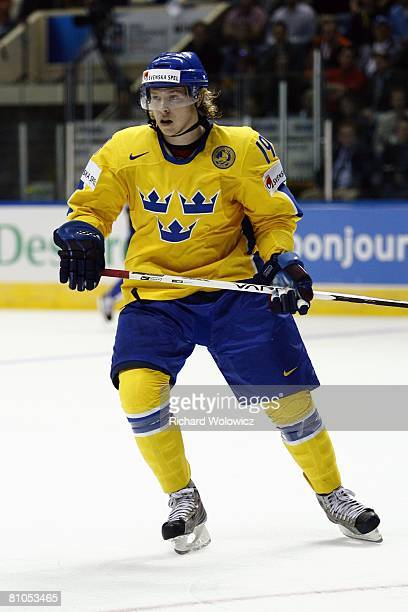 Nicklas Backstrom of Sweden skates during the game against France at the IIHF World Ice Hockey Championship preliminary round at Colisee Pepsi on May...