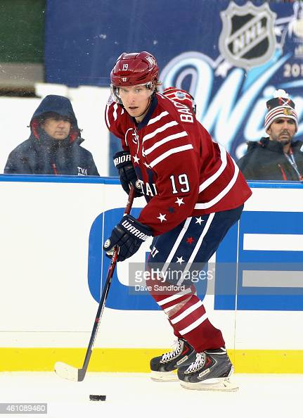 Nicklas Backstrom of the Washington Capitals plays against the Chicago Blackhawks in the 2015 Bridgestone NHL Winter Classic on January 1 2015 at...