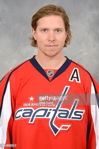 Nicklas Backstrom of the Washington Capitals poses for his official headshot for the 20162017 season on October 9 2016 at the Verizon Center in...