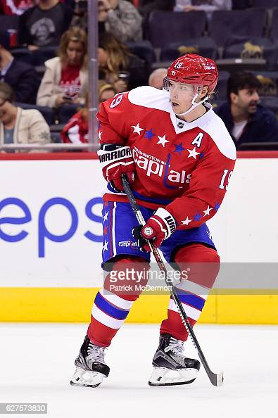 Nicklas Backstrom of the Washington Capitals skates in the third period during a NHL game against the New York Islanders at Verizon Center on...