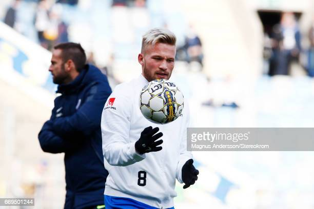 Nicklas Barkroth during the Allsvenskan match between IFK Norrkoping and IF Sirius FK at Ostgotaporten on April 17 2017 in Norrkoping Sweden