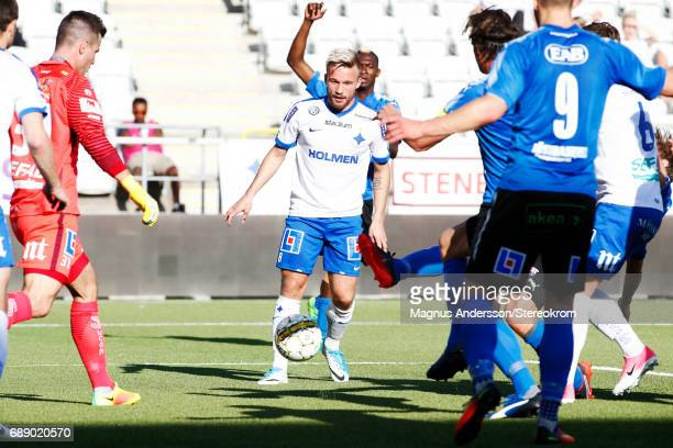 Nicklas Barkroth during the Allsvenskan match between IFK Norrkoping and Halmstad BK at Ostgotaporten on May 27 2017 in Norrkoping Sweden