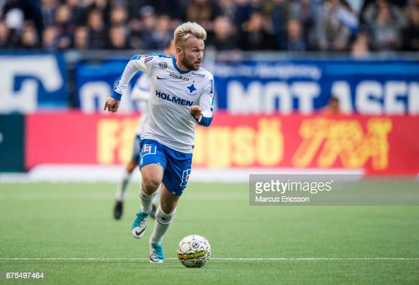 Nicklas Barkroth of IFK Norrkoping during the Allsvenskan match between Djurgardens IF and IFK Norrkoping at Tele2 Arena on May 1 2017 in Stockholm...