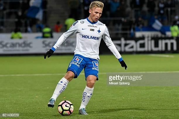 Nicklas Barkroth of IFK Norrkoping during the allsvenskan match between IFK Norrkoping and IFK Goteborg at Nya Parken on November 6 2016 in...