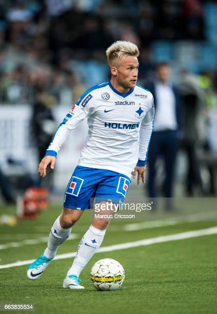 Nicklas Barkroth of IFK Norrkoping during the Allsvenskan match between IFK Norrkoping and Hammarby IF on April 2 2017 in Norrkoping Sweden